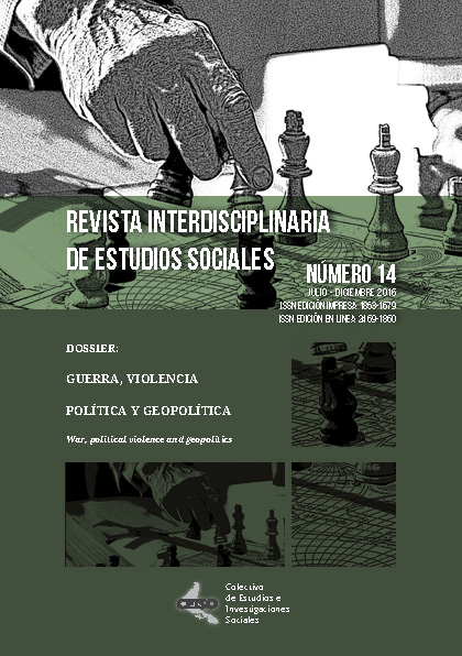 Ver Núm. 14 (2018): Julio / Diciembre 2016 - Revista Interdisciplinaria de Estudios Sociales